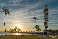 South Pointe Park - Miami Beach (..Javier Parigini) Tags: usa miami miamibeach southbeach florida orlando nikon nikkor d4 2470mm 28 landscape paisaje urbano parque park southpointepark sunset atardecer javierpariginifotografia