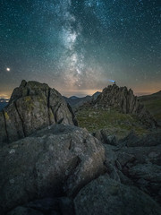 R E A C H (elganjones1) Tags: elgan jones castell y gwynt glyderau gwynedd snowdonia eryri milkyway stars night sky dark wales