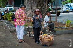 The Vendor #0106 (svenpetersen1965) Tags: huahin business buyer cookies eggs faceprotection hat vendor tambonhuahin changwatprachuapkhirikhan thailand th