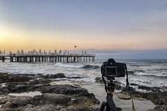Us Time.... (Aleem Yousaf) Tags: sunrise pier beach travel vacation turkey antalya alanya iphonography photography time me morning iphonex