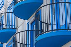 Blue Balconies (Jan van der Wolf) Tags: map186400vv blue balconies balkon balcony herhaling repetition blauw lines lijnen lijnenspel interplayoflines playoflines architecture architectuur amsterdam heesterveld