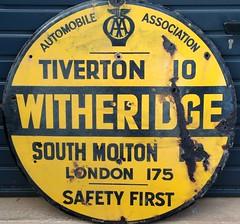 AA Witheridge (kitmasterbloke) Tags: aa automobileassociation enamel village devon sign roadside streetjewellry heritage