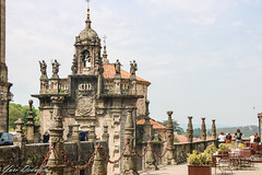 Church of San Fructuoso - view from Praza do Obradoiro (Yuri Dedulin) Tags: architecture eu europe landscape oldcity santiagodecompostela spain travel vigo yuridedulin tourism daytrip acoruña lacoruna attraction sights landmarks magnificent unique quiet cultural monument catholic gothic church spectacular religion prazadoobradoiro costadocristo world heritage site galicia romanesque baroque neoclassical 2018 yuri dedulin santiago compostela pilgrimage