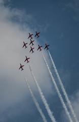 2018 - Red arrows at Cromer carnival (Photos@pierrotphoto.co.uk) Tags: redarrows cromercarnival 2018 flightpass aircraft military north norfolk cromer