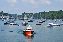 The Polruan Ferry, Fowey Harbour, Cornwall (Baz Richardson (now away until 26 Oct)) Tags: cornwall polruan polruanferry foweyharbour cornishharbours smallboats yachts