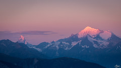 Les montagnes se réveillent (**Meg's Photos**) Tags: fiescheralp suisse vs sunrise cervin pink matterhorn fiesch wallis ch