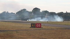 DOUGHNUTS! (EXPLORED 4/8/2018 #64) (mark_rutley) Tags: oneofakind eaglesquadron spitfire aviation aviationphotography ford mustang fordmustang doughnuts leeonsolent cityofexeter aircraft commercial film movie video explored