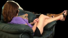 lounging (jemingway3) Tags: hot sexy mature married wife mom milf short shorts legs feet toes hotwife lynda