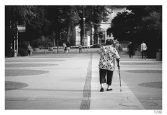 Going home (Aljaž Anžič Tuna) Tags: going home old oldlady cruch walking walkingstick stick photo365 project365 people onephotoaday onceaday 365 35mm 365challenge 365project elder nikond800 nikkor nice naturallight nikon nikon105mmf28 105mmf28 f28 d800 dailyphoto day bw blackandwhite black blackwhite white beautiful