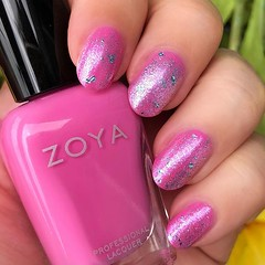 Fairy-Magic-Unicorn-Sparkly-Happy-Nails!  Sandy and Saldana by @zoyanailpolish 💖 #prsample #notd (My Beauty Bunny) Tags: instagram mybeautybunnycom my beauty bunny