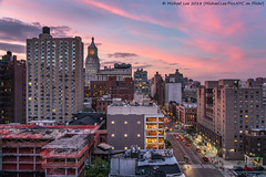 New York Sunset (20180621-DSC08497) (Michael.Lee.Pics.NYC) Tags: newyork sunset eastvillage architecture construction cityscape movietheater moxyhotel conedison sony a7rm2 fe24105mmf4g