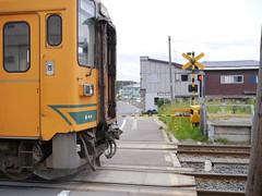 Crossing (しまむー) Tags: panasonic lumix gx1 g 20mm f17 asph natural train tsugaru free pass 津軽フリーパス
