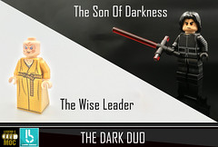 The Dark Duo (Erik Petnehazi) Tags: lego star wars custom minifigures snoke kylo ren epsiode 8 viii tlj last jedi pad printed 4 sides son darkness wise leader ben solo dark side duo lightsaber injection moulded