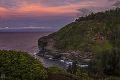 Kilauea Point National Wildlife Refuge, Kauai (lycheng99) Tags: kilaueanationalwildlifesanctuary kauai hawaii island birds wildlife sanctuary dusk sunset coast shore waves water sky clouds cove