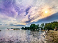Colors of river (denis.gorcovenco) Tags: sunset lake canada summer clouds sky landscape nature sea water river beach