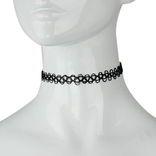 Black Retro Choker Necklace for Girls