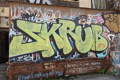 SKRUB (TheGraffitiHunters) Tags: graffiti graff spray paint street art colorful pa pennsylvania philly philadelphia bando abandoned building skrub