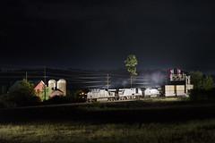 Dairy Farm, Coxsackie NY (a409will) Tags: barn farm dairy csx railroad intermodal signal field upstateny night