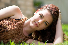 Kahlan (Szemak Photography) Tags: nature layingdown laying summer light black redhead brown portaiture nikon bokeh woman girl outside outdoors lace green portrait grass beautiful
