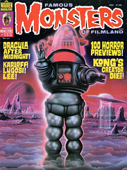 Famous Monsters #133 (1977), cover art by Bill Selby (gameraboy) Tags: vintage famousmonsters 133 1977 cover art billselby 1970s robbytherobot robbietherobot robot