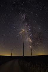 The Milky Way (Daniel A. Felices) Tags: nocturna aerogeneradores via lactea paisaje lalora