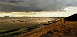 The Solent, looking west, late afternoon and low tide.
