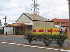 Meekatharra Hotel WA (spelio) Tags: australia remote wa western june 2011 pilbara travel
