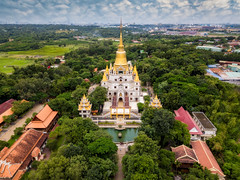 Aerial view of Buu Long Pagoda in Ho Chi Minh City. A beautiful buddhist temple hidden away in Ho Chi Minh City at Vietnam (MongkolChuewong) Tags: aerial aerialview architecture beautiful blue buddha buddhism buddhist built buu chi city cityscape culture destinations dragon drone endurance gold golden high ho hochiminh indian landscape long minh myanmar pagoda park peace praying pursuit religion scene sky spirituality statue structure synagogue temple thailand tourism tourist tranquil travel vietnam vietnamese visit yellow hochiminhcity hồchíminh vn