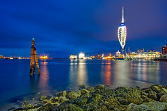 Blue Hour in Portsmouth (nickcoates74) Tags: a6300 emirates ilce6300 night portsmouth sony spinnaker spinnakertower hampshire uk longexposure affinityphoto