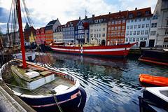 Harbor in Copenhagen, Denmark (` Toshio ') Tags: toshio denmark copenhagen danish europe european europeanunion ship fishingboat harbor nyhavn architecture restuarants water fujixt2 xt2