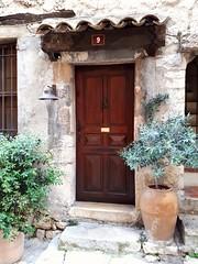 pretty front door (angelinas) Tags: doorways doorporn doors entrances france frontdoor facades archtiecture villages charming plants provence europe