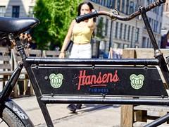 ice cream bike (T.jons) Tags: københavn copenhagen norrebrø streetphoto bike women ice cream