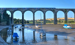 River Tiddy & St Germans Viaduct, Cornwall (Baz Richardson (now away until 26 Oct)) Tags: cornwall stgermansviaduct railwayviaducts rivertiddy yachts stgermans rivers