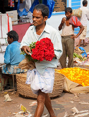 Kolkata, Mullik Ghat Flower Market (binbirgezi) Tags: kolkata calcutta flowermarket aysetopbas incredibleindia mullikghat