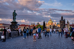 On the Charles Bridge Prague (AgarwalArun) Tags: sonya7m2 sonyilce7m2 sony landscape scenic nature views europe centraleurope czeckrepublic prague river vltava moldau charlesbridge karluvmost