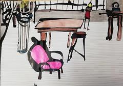 late night at the studio (raumoberbayern) Tags: sketch painting sketchbook skizzenblock robbbilder ink tusch dina1 atelier interior acryl acrylic malerei munich münchen