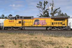 A fresh coat of paint (Tom Trent) Tags: eugene oregon unitedstates us c408w ge diesel up unionpacific yard