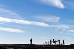 Winter swim meet at Coledale (Mikey Down Under) Tags: nsw illawarra wollongong coledale south coast australia silhouette men northernbeaches winter swimmers swim team meet bluesky race