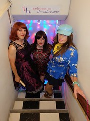 TH club entrance (eileen_cd) Tags: th dublin highheels goldclutch redhead standing crossdresser transvestite trannyhaven cd tv