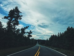 life is not a highway (Kelly LaCour) Tags: highway life is nope driving road trip roadtrip high way lines trees scenic route sky midday clouds cloud blue cloudy while photography lee county north carolina