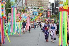Japanese Tanabata Festival (seiji2012) Tags: 福生市 ゆかた 浴衣 七夕飾り 短冊 祭り fussa festival streamer decoration