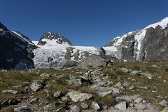 Petit Mont Collon et le glacier du Mont Collon (bulbocode909) Tags: valais suisse arolla valdhérens plandebertol petitmontcollon glaciers neige sérac glace rochers paysages vert bleu bergeries glacierdumontcollon montagnes nature sentiers