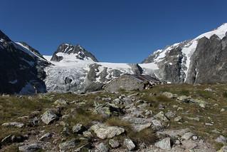 Petit Mont Collon et le glacier du Mont Collon