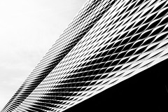 White becoming black (Peter Hungerford) Tags: blackandwhite architecture building exhibition centre basel