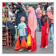 Family shopping (sdc_foto) Tags: sdcfoto street streetphotography color pentax pentaxart k1 family shopping summer market red muslem london