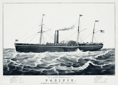 U.S mail steam ship The Pacific, illustrated by N. Currier. Original from Library of Congress. Digitally enhanced by rawpixel. (Free Public Domain Illustrations by rawpixel) Tags: allaireworks allarie america antique architecture art bell boat brown brownandbell builders collins collinsline currier designs drawings engines handcolored historic historical huge illustrated illustration lithograph mail mast ncurrier nautical navigation newyork ocean old pacific picture sail ship sketch states steam steamship transport usmail united vintage water works