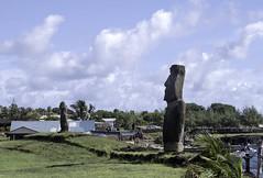 Statues Along the Coast at Hanga Roa Easter Island Chile 02 (Barbara Brundage) Tags: statues along coast hanga roa easter island chile 02