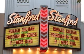 Stanford Theatre Marquee - Palo Alto, Calif.