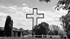 Begraafplaats / Thorn (rob4xs) Tags: thorn wittestadje begraafplaats kerkhof cemetery friedhof kruis cross kreuz crucifix zw bw blackandwhite monochrome nederland thenetherlands holland niederlande
