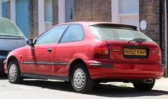 N652 KAH (1) (Nivek.Old.Gold) Tags: 1996 honda civic 14i auto 3door holden norwich